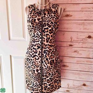 Muse Leopard Print Sheathe Dress Size 10